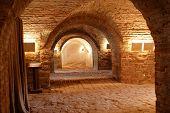 A Corridor In A  Historical Underground Hospital