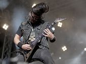Trivium performs live on stage at Tuska Open Air Metal Festival