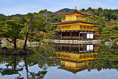 Tempel des Goldenen Pavillon in Kyoto, Japan.
