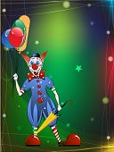 Funny Clown In A Bright Dress