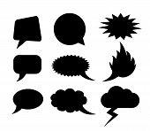 Vector speech clouds shapes