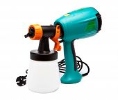 electrical spray gun for coloration for color pulverization