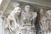 Detail, Medieval Capitals, Carved Columns poster