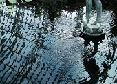 Sculpture Reflection In Pool