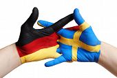German And Swedish Hand