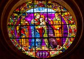Visatation Mary Elizabeth Meeting Stained Glass Cathedral Of Saint Mary Of The See Seville Spain