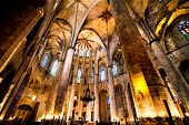 BARCELONA - JUNE 12: Cathedral of the Holy Cross and Saint Eulalia. It is the seat of the Archbishop