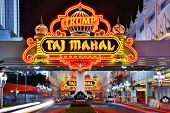 ATLANTIC CITY, NJ -  SEPTEMBER 8: Taj Mahal Casino September 8, 2012 in Atlantic City, NJ.  Gambling was legalized in the city in 1976 and led to a resurgence.