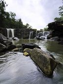 Tat Ton Waterfall At Chaiyaphum In Thailand.