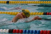 picture of breast-stroke  - young girl swimming breast stroke - JPG