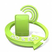 Smart Phone Symbol  A 100 Percent Eco
