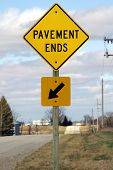 Pavement Ends Sign