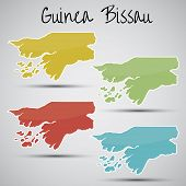 stickers in form of Guinea-Bissau