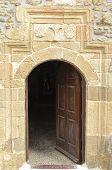 Traditional Greek stone doorway