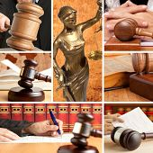 Set of wooden gavel and law 2