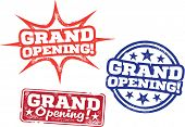 Grand Opening Business Stamps