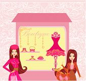 Stylish Girls Shopping