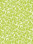 Floral Scrolls Pattern Green Background