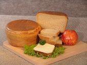 Round brown bread