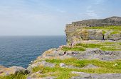 Irish landscape - view from Dun Aengus, an ancient fort.