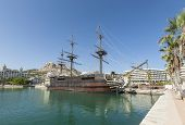 View of the harbour in Alicante