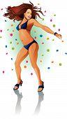Dancer bikini blue
