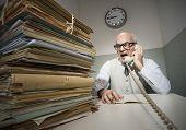 Vintage Businessman On The Phone