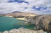 stock photo of papagayo  - Papagayo coast in Lanzarote islandCanary Islands Spain - JPG