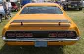 1970 Orange Mercury Cyclone Spoiler Rear View