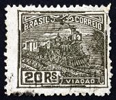 Postage Stamp Brazil 1920 Railroad