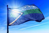 Delta Amacuro (Venezuela) flag waving on the wind