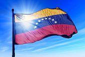 Venezuela flag waving on the wind