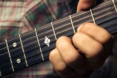 stock photo of musical scale  - Close Up On a man - JPG