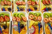 Ensalada de fruta envasados.