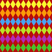 Seamless Harlequin Pattern-multicolor