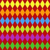 Seamless Harlequin Pattern-multicolor