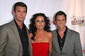 Jeff Lewis with Jenni Pulos and Ryan Brown  at the Fox Reality Channel Awards. Avalon Hollywood, Hol