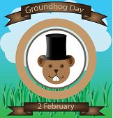 picture of groundhog day  - Illustration of Groundhog Day two dedicated in February - JPG