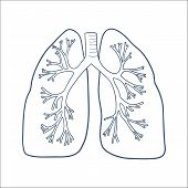 foto of tuberculosis  - Sketch vector element for medical or health care design - JPG