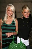 Holly and Molly from Sunset Tan  at the Summer Stars Party hosted by InTouch Weekly and ISH. Social
