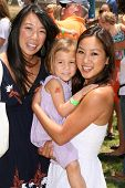 Karen Kwan and daughter Olivia with Michelle Kwan  at