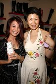 Serena Guam and Lisa Gao  at the Dans Sara, Leezee Fabulous Shoes and Swing Cologne Gifting Suite. L