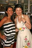 Lana Asanin and Lisa Gao  at the Dans Sara, Leezee Fabulous Shoes and Swing Cologne Gifting Suite. L