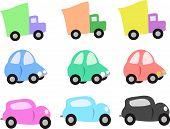 Mezcla de camiones y coches