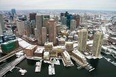 Boston Skyline From Air