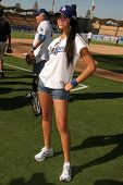 Yasmin Deliz  at The 50th Annual Hollywood Stars Game hosted by the Los Angeles Dodgers. Dodgers Sta