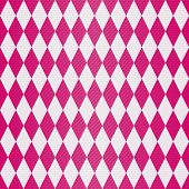 stock photo of transverse  - Seamless geometric pattern with shiny burgundy rhombuses and translucent transverse stripes  - JPG