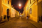 Old Streets Of Zagreb Night View