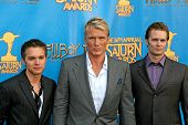 Thomas Dekker with Dolph Lundgren and Garret Dillahunt  at the 34th Annual Saturn Awards. Universal
