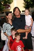 Sam Jenkins with Kevin Sorbo and their children  at the Los Angeles Premiere of